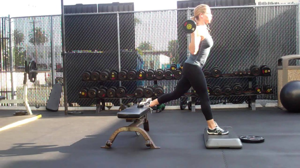 Jen Ferruggia Front Foot Elevated BB Bulgarian Split Squat