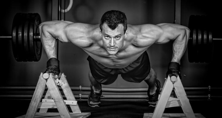push up man doing crossfit fitness training