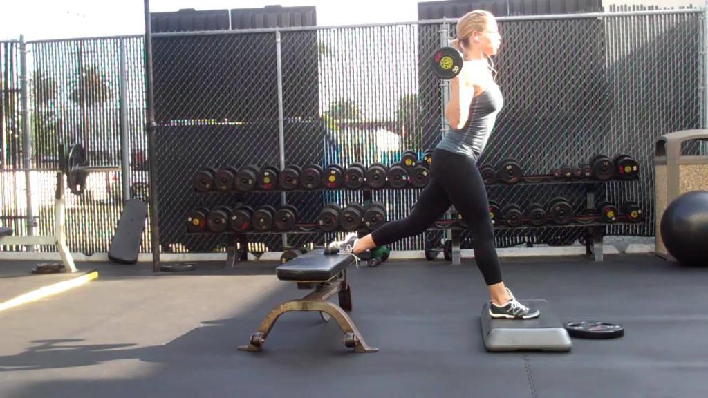Jen Ferruggia Front Foot Elevated BB Bulgarian Split Squat